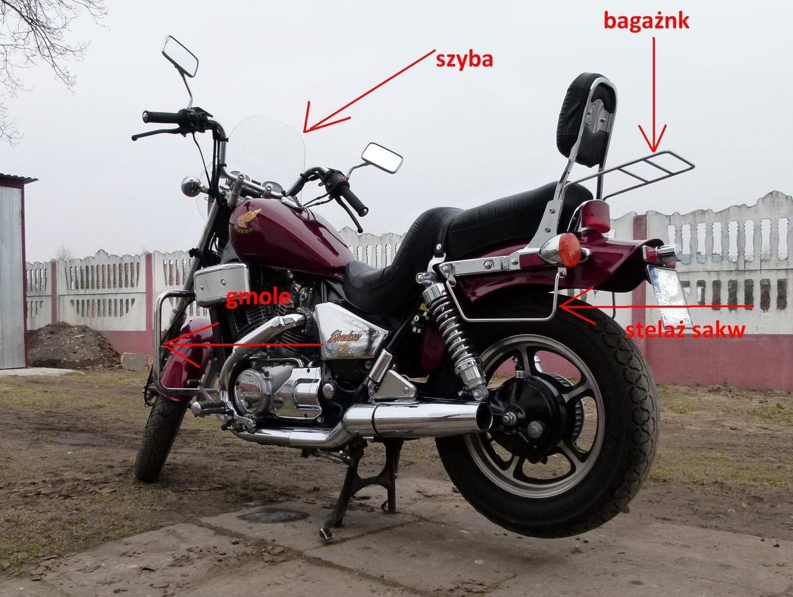 Bagażnik honda VT 700-800