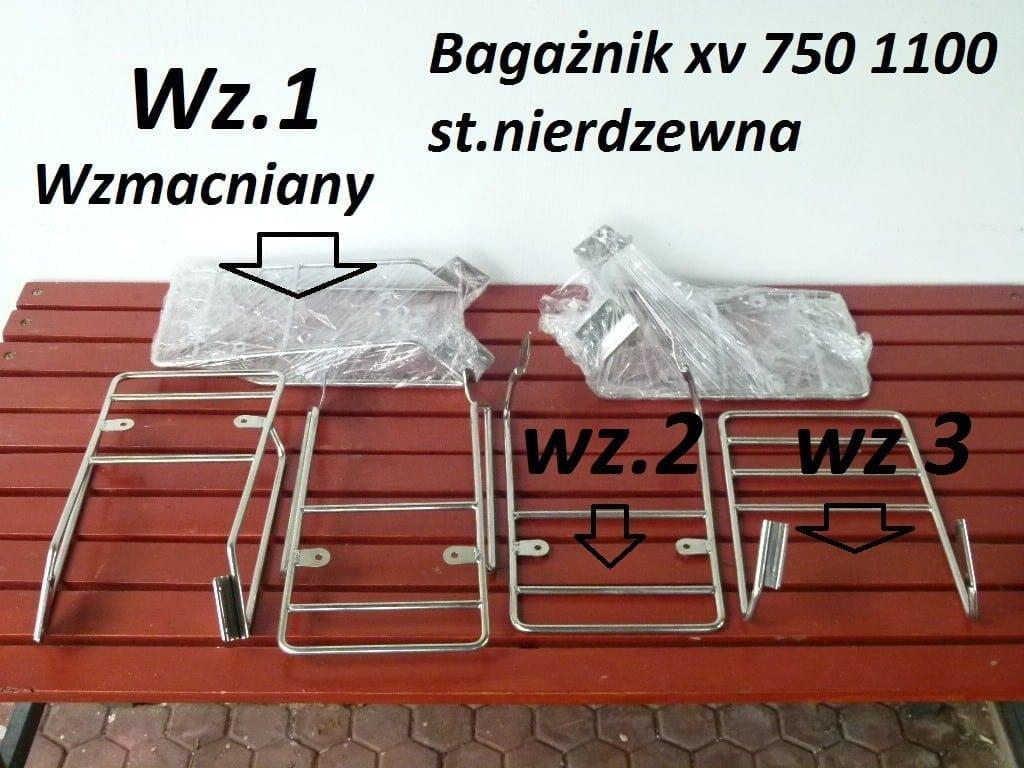 Bagażnik yamaha virago xv 750 xv 1100 wzmocniony z dostępem do puszki