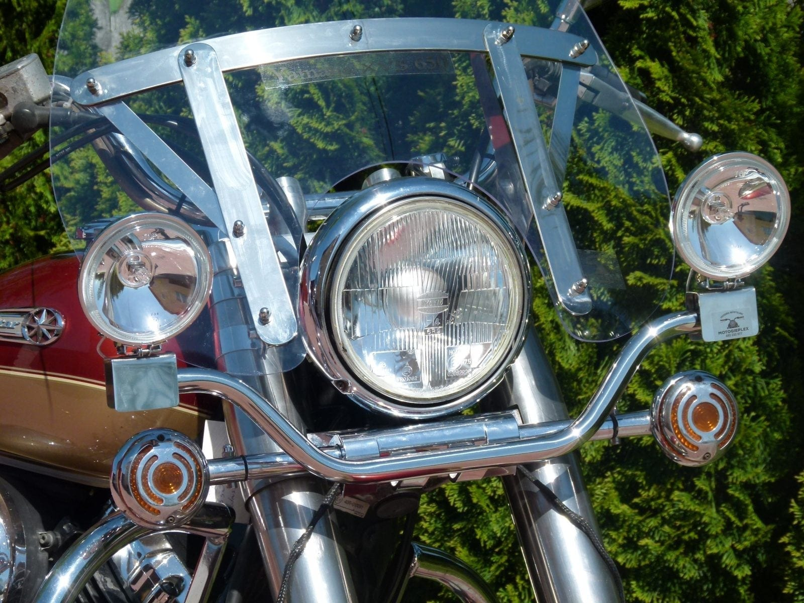 Stelaż z lightbarami yamaha xvs 650 dragstar 1100 classic szyba