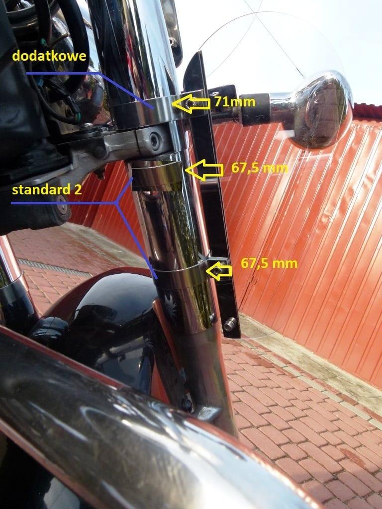 Deflektory kolan rąk Szyba Honda Vt 750 Shadow C3 C4