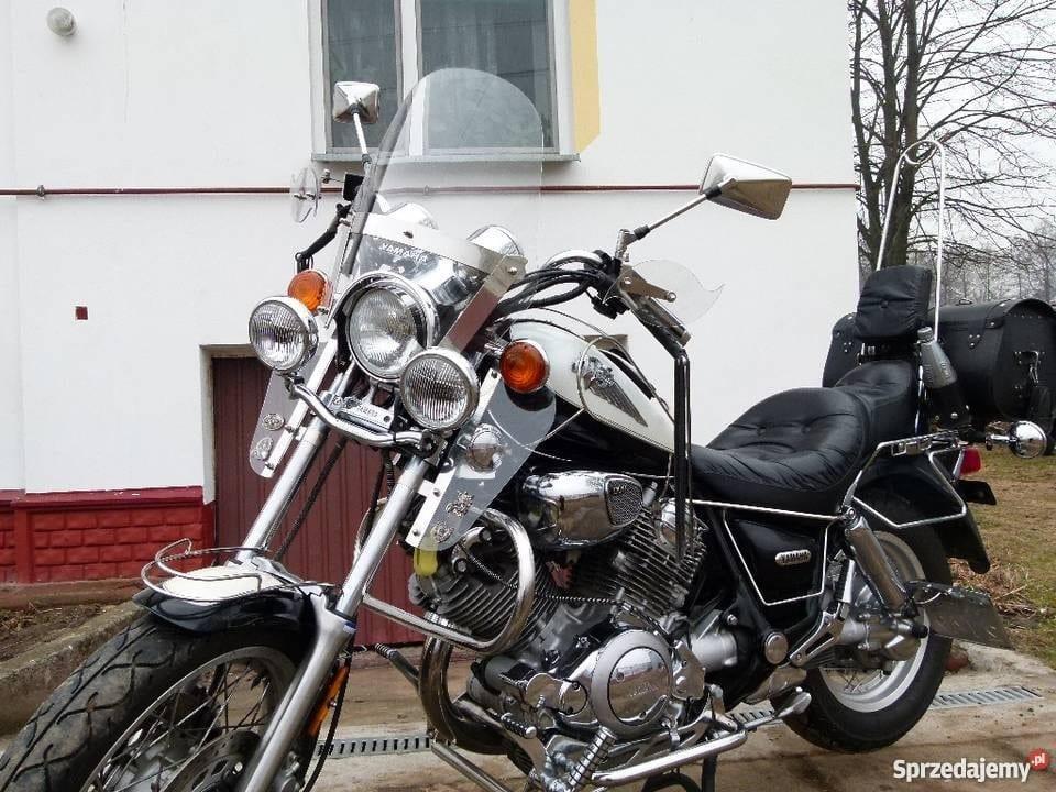 Yamaha xv 750-1100 szyba 4 punkt nierdzewka